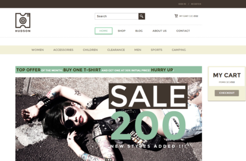 Hudson Ecommerce WordPress Theme