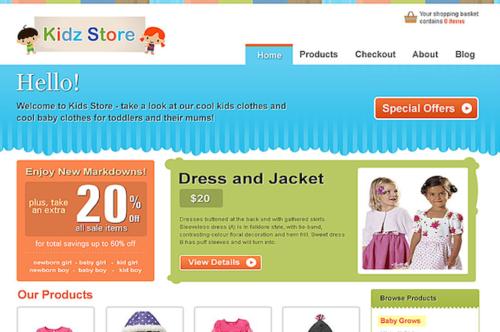 Kids Store Ecommerce WordPress Theme