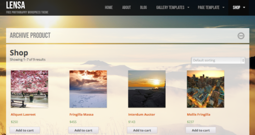 Lensa Ecommerce WordPress Theme ColorLabs