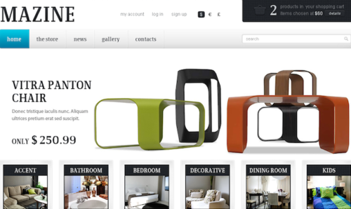 Mazine Ecommerce Online Store Template Themeforest