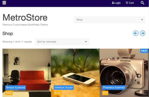 Metro Store Ecommerce WordPress Theme ColorLabs