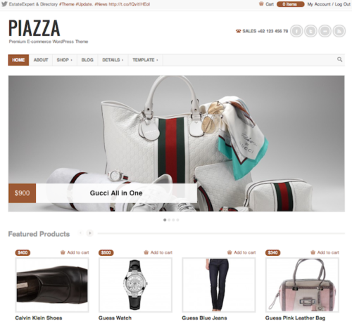 Piazza Ecommerce WordPress Theme Colorlabs