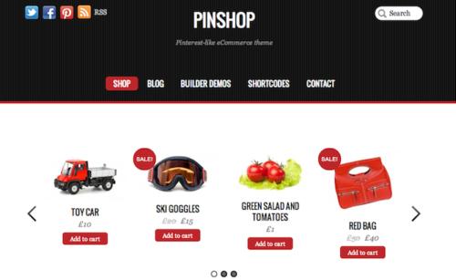 Pinshop Ecommerce WordPress Theme