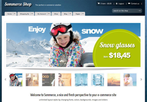 Sommerce Shop Ecommerce Template Themeforest