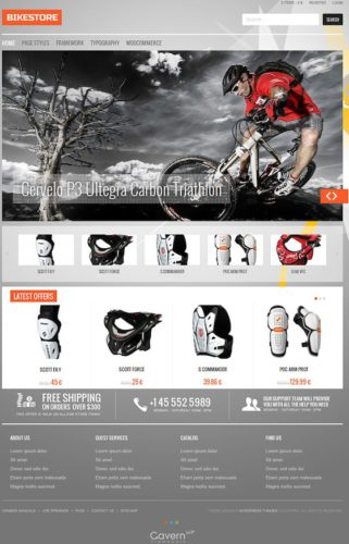 BikeStore Responsive WooCommerce WordPress Theme From GavickPro A Responsive WooCommerce Wordpress Theme Gavick Best Ecommerce Themes