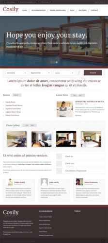 Cosily WordPress Theme Themes Kingdom online booking reservations Responsive Hotel Booking Wordpress Theme   Cosily