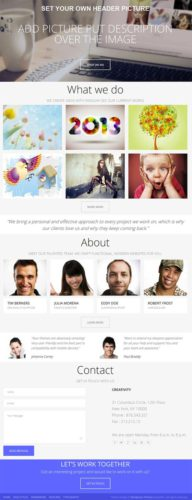 Single Page Portfolio WordPress Theme - Creativity