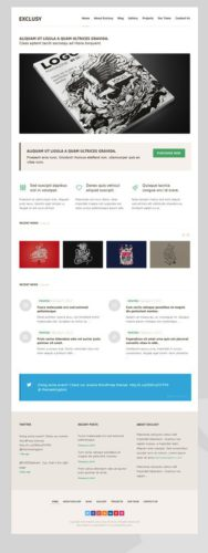 Exclusy WordPress Portfolio Template