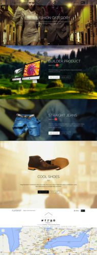 FlatShop Single Page Parallax Ecommerce Template WordPress Theme Themify FlatShop Parallax One Page Online Store Wordpress Theme