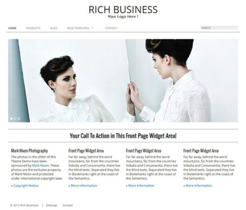 Good Business Flat Design Minimal WordPress Theme