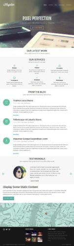 Hayden Responsive Minimal Business Portfolio Template ThemeTrust Minimal Business Portfolio Wordpress Theme   Hayden