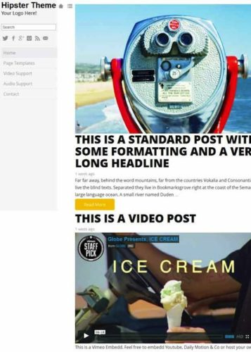 Hipster Tumblr Clone WordPress Theme by RichWP
