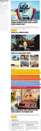 Hipster Tumblr Clone Microblogging WordPress Theme