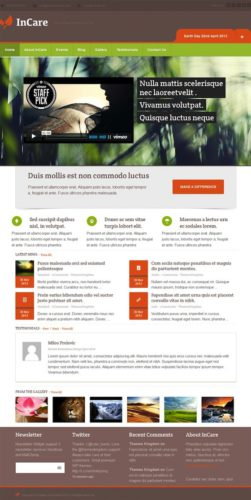 Responsive Eco-Friendly WordPress Theme - InCare