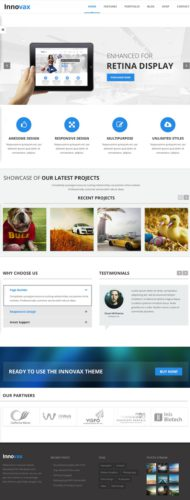 Innovax Responsive Business Portfolio Wordpress Theme Meridian Themes Innovax Wordpress Theme   Responsive Business Portfolio Template