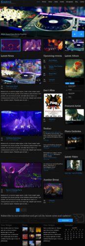 Kontrol Music Wordpress Theme Responsive Cssigniter Responsive Music Band Wordpress Theme   Kontrol