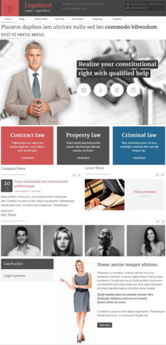 Legalized WordPress Theme for Law Firms