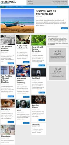 MasterGrid Pinterest-Inspired WordPress Theme