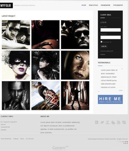 Responsive Personal Portfolio WordPress Template - MyFolio