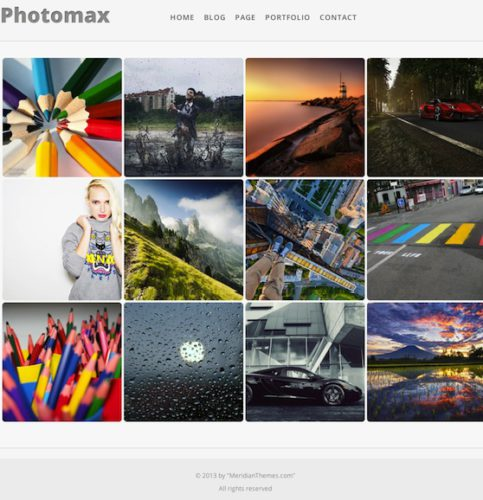 Photomax Photography Wordpress Theme Meridian Themes Photomax   Responsive Minimal Photography Wordpress Theme