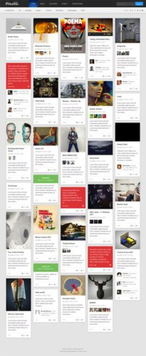 Pinable Pinterest Clone Tumblr Template