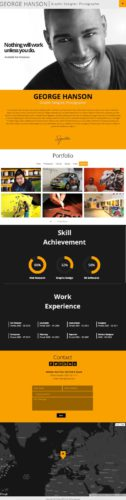 Profession one page cv resume theme