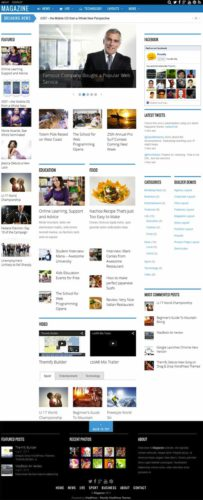 Responsive 3 Column Magazine News Website WordPress Theme - Magazine