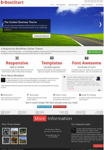Responsive BootStart Twitter Bootstrap Wordpress Theme Gabfire Best Business Themes