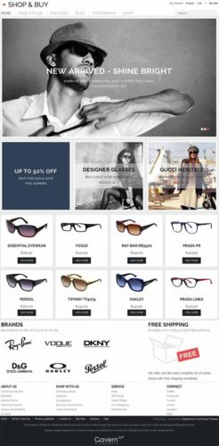 Responsive ShopAndBuy eCommerce Online Store Wordpress Template GavickPro Best Ecommerce Themes