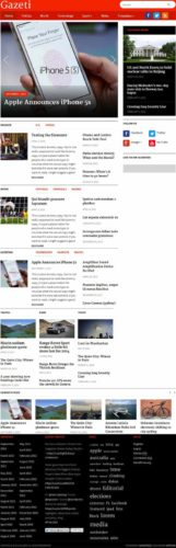 Responsive World News WordPress Theme - Gazeti