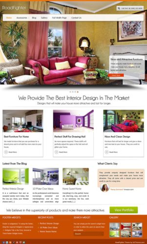 Road Fighter Interior Design Wordpress Theme Responsive InkThemes Responsive Interior Design Wordpress Theme   Road Fighter