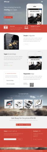 Single page responsive business Wordpress template Bluap Professional Business Wordpress Theme   Bluap