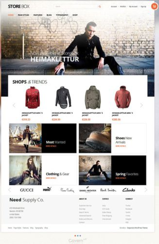 StoreBox WordPress Theme WooCommerce Responsive Online Store GavickPro Best Ecommerce Themes