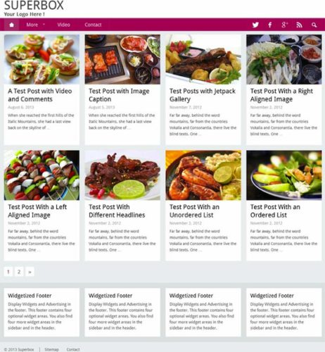 Superbox Food Blog Template Wordpress Theme RichWP Create a Food Blog Website with Superbox Wordpress Theme