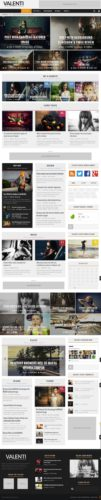Valenti Parallax Reviews Magazine Template