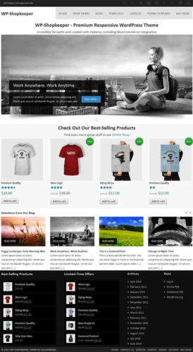 WP Shopkeeper WordPress Theme Responsive ecommerce Solostream Best Ecommerce Themes