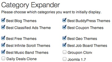 Category Expander WordPress Theme Plugin