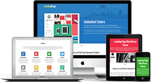 Responsive One Page Flat WordPress Theme - Landing Page Features