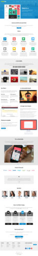 Responsive One Page Flat WordPress Theme - Landing Page