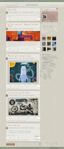 responsive Botanic WordPress Theme Cssigniter Unique Wordpress Blog Theme   Botanic