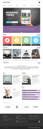 Responsive Business WordPress Theme - Collective