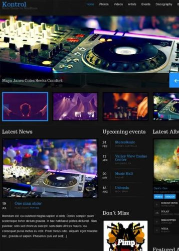 Kontrol Music Wordpress Theme Responsive Cssigniter 5 Cssigniter Contest   Win an Annual Subscription and Access to All Themes