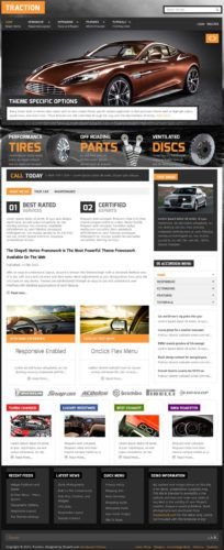 Automobile Site Traction WordPress Theme Shape5 Create an Auto Dealer Website with Traction Wordpress Theme