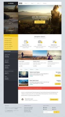 Business Template lexicon Joomla Template rockettheme Create a Flat Design Business Site with Lexicon Joomla Template