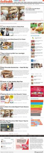 Health Fitness WordPress Theme TheHealth Magazine3 Create an Online Health Magazine Website with TheHealth   Magazine3