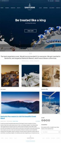 Hotel Online Booking Wordpress Theme Santorini Resort Cssigniter Hotel with Online Booking Wordpress Theme   Santorini Resort