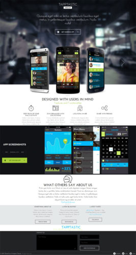 Mobile App TappTastic WordPress Theme - Themefuse
