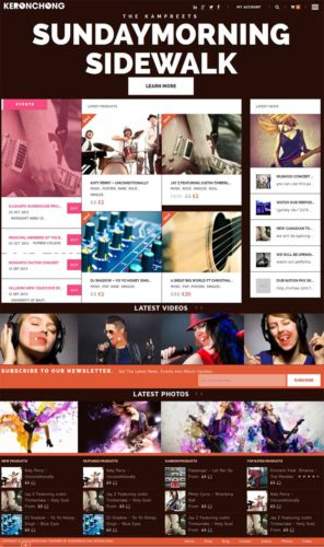 Music band Music Store WordPress Theme KronChong