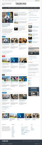 News Template Wordpress Theme Tribune 3 WPZOOM Create a Newspaper Website with Wordpress Theme   Tribune 3.0