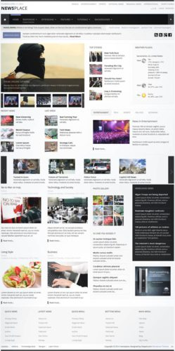 Newspaper WordPress Theme Newsplace Shape5 Responsive Newspaper Wordpress Theme   NewsPlace